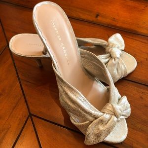 Loeffler Randall Luisa Kitten Heel Mule Silver